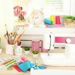 Beautiful comfortable seamstress workplace — Stock Photo #75131847