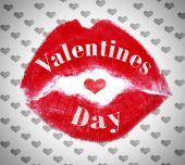 Lipstick kiss closeup. Love, Valentine's Day concepts. — Stock Photo