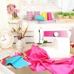 Beautiful comfortable seamstress workplace — Stock Photo #75491693