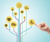 Mediziner arbeiten mit Gesundheitswesen Symbole. moderne Medizintechnik-Konzept — Stockfoto