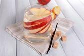 Glass of apple cider — Stock Photo