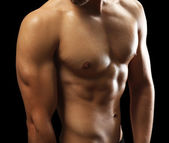 Muscle young man — Stock Photo