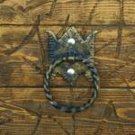 Wooden door with round handle — Stock Photo #76109287