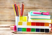 Bright school stationery — Stock Photo
