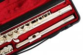 Flute in case close up — Stock Photo