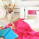 Beautiful comfortable seamstress workplace — Stock Photo #76535189