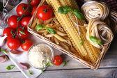 Pasta with tomatoes cherry — Stockfoto