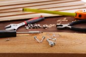 Workplace with construction tools — Stock Photo
