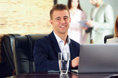 Businessman working in conference room — Stock Photo