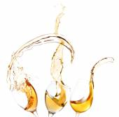 Wine splashes isolated on white — Stock Photo