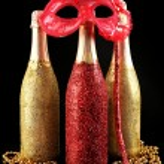 Decorative champagne bottles — Stock Photo #77247206