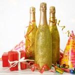 Decorative champagne bottles — Stock Photo #77247190