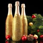 Decorative champagne bottles — Stock Photo #77247202