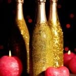 Decorative champagne bottles — Stock Photo #77247218