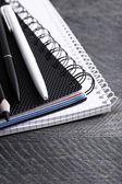 Black and white stationery — Stock Photo