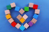 Cubos en forma de corazón — Foto de Stock