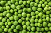 Heap of fresh green peas close up — Stock Photo