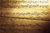 Music sheet background — Stock Photo