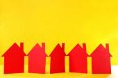 Maisons de papier de couleur — Photo
