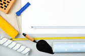 Still life with building tools — Stock Photo