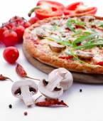 Tasty pizza with vegetables — Stock Photo