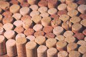 Wine corks background — Stock Photo