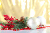 Beautiful Christmas balls — Stock Photo