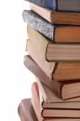 Mucchio dei libri su sfondo chiaro — Foto Stock