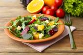 Tasty salad with arugula leaves — Stock Photo
