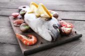 Dorado fish and other ingredients — Stock Photo