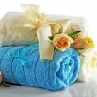 Rolled up colorful towels — Stock Photo #79853762