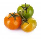 Tomates verdes aisladas en blanco — Foto de Stock