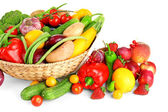 Heap of fresh fruits and vegetables — Stock Photo