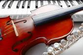 Musical instruments close up — Stock Photo