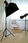 Photo studio with modern interior — Stock Photo