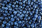 Heap of tasty ripe blueberries close up — Stock Photo