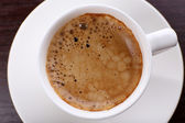 Cup of coffee close up — Stock Photo