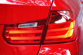 Taillights of red car — Stock Photo