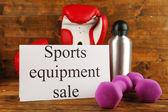 Sport varor till försäljning — Stockfoto