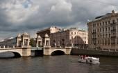 Lomonosov Bridge in St Petersburg — Stock Photo