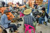 Imported shoes for sale in Thailand — Stock Photo
