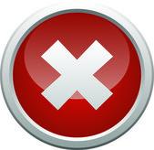 Error icon button on white background — Stock Photo