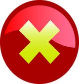 Error icon button on white background — Stok fotoğraf