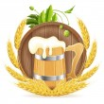 barril de cerveza y taza de madera — Vector de stock  #52583363