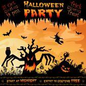 Halloween plakát — Stock vektor