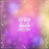 Retro vánoční rám — Stock vektor