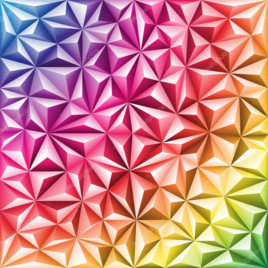 多彩多姿抽象三角形马赛克图案