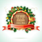 Christmas Wreath — Vetor de Stock