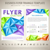 Flyer Design Template — Stock Vector