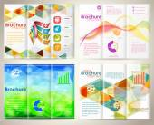 Collect Brochures Design Template — Stockvector